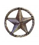 13-1/2'' STEEL 3-DIMENSIONAL STAR W/ ROPE RING 12
